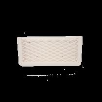 allpa Kunststof opbergvak, wit, met wit elastisch net, afm. 270x115x32mm