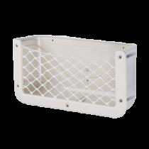 allpa Kunststof opbergvak, wit, met zwart elastisch net, afm. 370x185x100mm