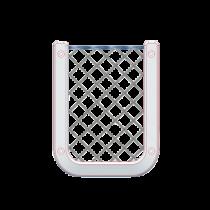allpa Kunststof opbergvak, wit, met zwart elastisch net, afm. 126x98mm