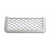 allpa Kunststof opbergvak, wit, met wit elastisch net, afm. 180x365mm