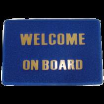"allpa Voetmat ""Welcome on Board"", afm. 600x320mm, PVC"