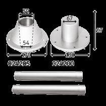 Aluminium tafelpoot set