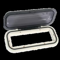 allpa Kunststof radioklep met verende smoke-kleurige klep, inclusief pakking, wit