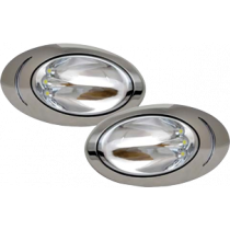 allpa opbouw RVS 316 high power LED Hull light 12V/5W 190x114x35mm (2st.)