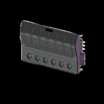 allpa ABS schakelpaneel, auto fuse, 12V, 6-schakelaars, spatwaterdicht met auto fuse LED indicators