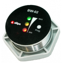 "allpa Battery watch monitor model ""BW-02"", 7-32V, Ø35mm, 3-way monitoring met alarm"
