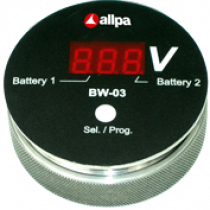 "allpa Battery watch monitor ""BW-03"", slimme spanningsmeter voor meerdere Accu's, display: rood"