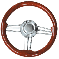 Stuurwiel Type 15L/35 Mahogany wood 35cm