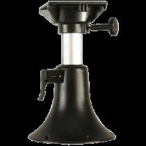 allpa Aluminium Belle verstelbare stoelpoot, H=330-430mm draaibaar met 4-posities, grijs