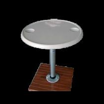 allpa Aluminium opbouwvoet, Ø230mm (voor 069192 / 069492)