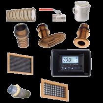 Onderdelen air conditioning systeem Model-9000 met dubbele uitstroomopening