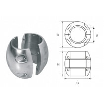 Aluminium Schroefas-Anoden, bolvorm