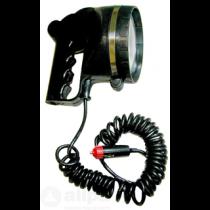 allpa Handzoeklicht, halogeen,12V / 55W, rubberen behuizing, inclusief schakelaar
