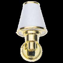 allpa Messing Interieurlamp, wandmontage, 12V / 10W, voetplaat Ø76mm, met schakelaar