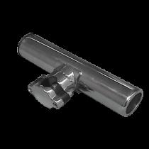 allpa RVS hengelhouder voor railingmontage (Ø25mm), L=215mm, max. Ø40mm