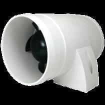 allpa Afzuigventilator voor motorruimtes, 12V, 3,0A, 90-120m³/h, in-line montage