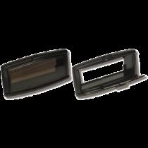 allpa Kunststof radioklep, 233x107x85mm, zwart