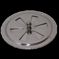 RVS ventilatierozet met draaischijf