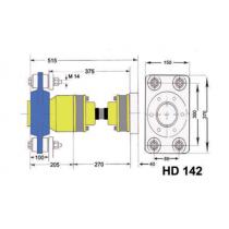 Model HD142  A-flex homokinetische aandrijfset *