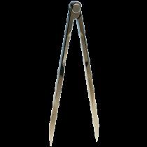 allpa Aluminium kaartpasser, L=180mm, met etui