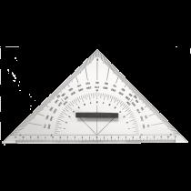 allpa Plexiglas Navigatie 3-hoek, met handvat, L=250mm