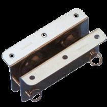 allpa RVS doorvoerblok dubbelschijfs, 10mm, schijf Ø33mm, breekkracht 600kg