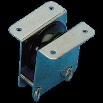 allpa RVS doorvoerblok enkelschijfs, 12mm, schijf Ø55mm, breekkracht 800kg