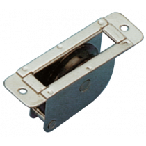 allpa RVS doorvoerblok enkelschijfs, vlak, 8mm, schijf Ø38mm, breekkracht 700kg