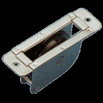 allpa RVS doorvoerblok enkelschijfs, rond, 8mm, schijf Ø38mm, breekkracht 700kg