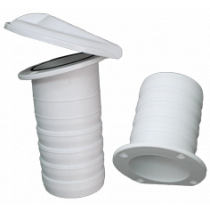 Nylon kuiplozersysteem, 2-delig, Øinbouw (tule) 79mm, klep Ø130mm
