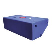 allpa Losse polyethyleen vuilwatertank, schuine Zijde, 50l, 550x430x290mm