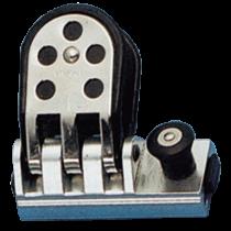 allpa Aluminium genuaslede met RVS versterkte schijf, voor T-Schienen 26x4mm, max. schoot Ø14mm