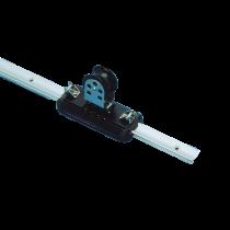 (G) allpa Aluminium overlooprail, L=1500mm, 25x16mm, gatmaat Ø5, gatafstand 100mm