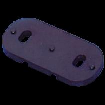 allpa Kunststof rechte voetplaat voor beugelmontage voor schootklem 253000 / 253200