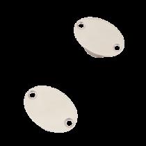 Set van magnetische deur/kast houders; L55 x B39 x D17mm