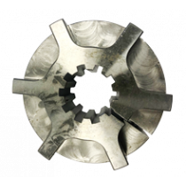 Naaf demperplaat 10 tands, laag profiel H=37mm. Werkende lengte 31mm