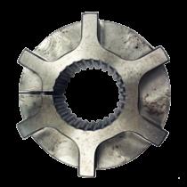 Naaf demperplaat 26 tands, laag profiel H=37mm. Werkende lengte 31mm