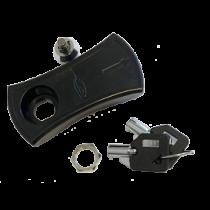 Slot met Sleutel , reserve sleutel voor kunststof luik zwart
