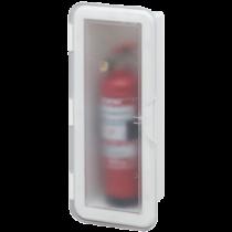 allpa Kunststof Brandblusserhouder met transparante deksel, 430x180x110mm