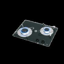 allpa Gaskomfoor met thermische glasplaat 380x280x80mm, branders: 1x klein / 1x medium