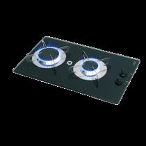 allpa Gaskomfoor met thermische glasplaat 500x300x80mm, branders: 1x medium / 1x groot