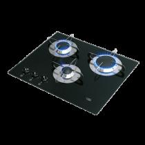 allpa Gaskomfoor met thermische glasplaat 505x410x80mm,branders: 1x klein / 1x medium / 1x gro