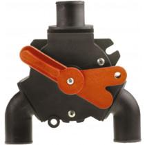"Johnson Pump Y-ventiel voor vuilwater, 3x 1-1/2"" (Ø38mm), 1x 1"" (Ø25mm)"