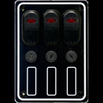 allpa Waterdicht schakelpaneel 12V met 15A glaszekeringen en LED-indicators