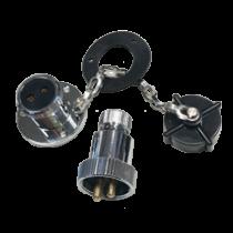 allpa Messing-verchroomde waterdichte connectoren