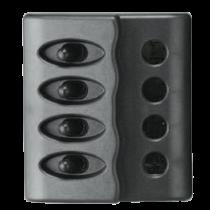 allpa Kunststof schakelpaneel, 12V, 4-schakelaars, géén zekeringen met LED-indicators
