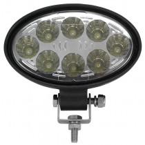 allpa LED Dek- & Zalinglicht, 8-30V, LED 8x3W, aluminium huis met verstelbare RVS-montagebeugel