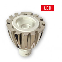 allpa MR11 LED-vervangingslamp, met aluminium huis, Ø25mm, L=38mm, 1x1W, 12V, high-power LED