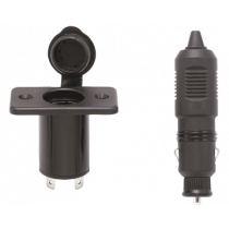 allpa Stopcontact met stekker, 12V / 10A, inclusief afdekkap