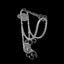 allpa RVS Reddingsboei-ophangbeugel met reddingslichthouder voor montage op railing (Ø25mm) of wand